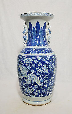 Large  Chinese  Blue and White  Porcelain  Vase     M318