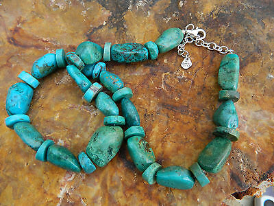 Authentic BARSE Turquoise Sterling Silver 18 - 20 Inches
