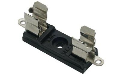 """Fuse holder / clip US AGC 1/4"""" * 1.25"""" fuses for Panel / PCB mount Pack of 5"""