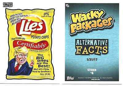 2017 Topps Wacky Packages Alternative Facts No.4 Lies Potato Chips Only 288 Made