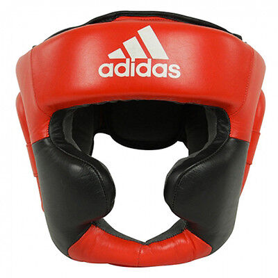 Adidas Super Pro Extra Protection Training Headgear - Red/Black