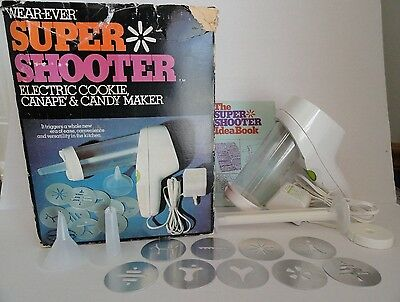 VTG WearEver Super Shooter Electric Cookie Canape & Candy Maker No. 70001