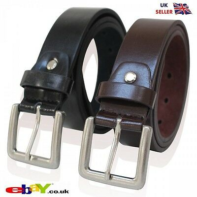 New Mens 100% geniune   Leather Belts Black Brown Thin Belt