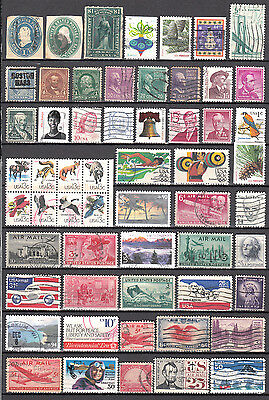 LOT  176. U.S.A. X50+ DIFFERENT Stamps.