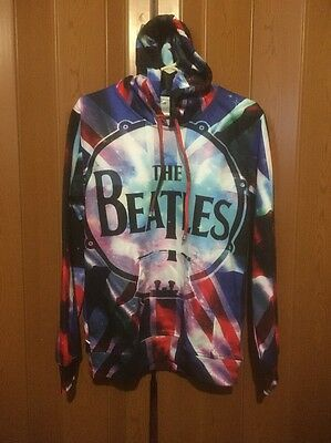 The Beatles Band Hoodie Size Large