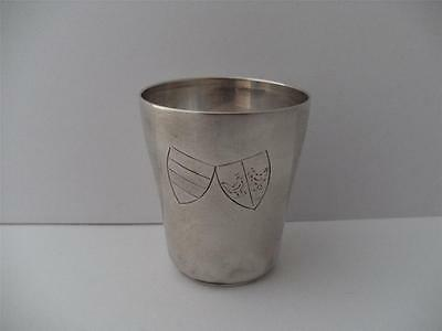 German Solid Silver Tot Measure