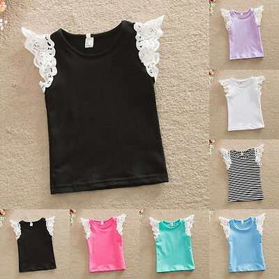 Cute Toddler Baby Girl T-shirt Tops Tee Vest Cotton Clothes Casual Tank Top