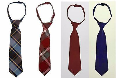 French Toast Boys Ties. Navy, Burgundy, Blue/Gold, Burgundy Plaid,  NEW  Uniform