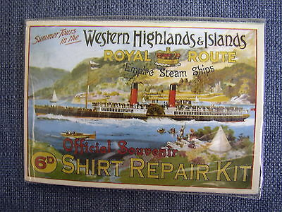 NEW Vtg style Sewing kit Scottish steamer souvenir?RMS Columba Western Highlands
