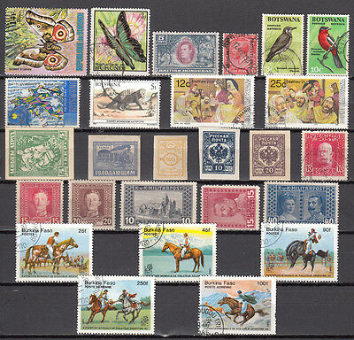 LOT 118..BURKINA FASO plus other COUNTRIES X26 Different stamps