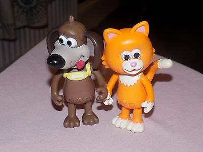 Timmy Time  Action Figures  Mittens The Cat & Ruffy The Dog Cbeebies Toys