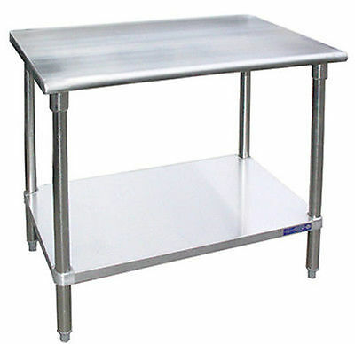 Heavy Duty Stainless Steel Work Prep Table 18 x 48 - NSF