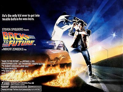 """Back to the Future 16"""" x 12"""" Reproduction Movie Poster Photograph 2"""