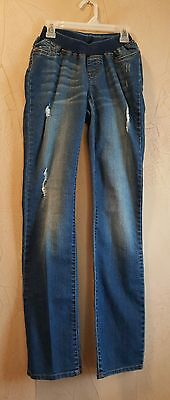 Loved by Heidi Klum Maternity Stretch Medium Wash Blue Jeans Size Extra Small XS