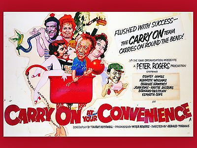 """Carry on at your convenience 16"""" x 12"""" Reproduction Movie Poster Photograph"""