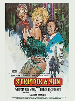 """Steptoe and Son 16"""" x 12"""" Reproduction Movie Poster Photograph"""