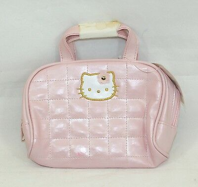 Hello Kitty Pink Faux Leather Cosmetic Bag No 02789-8 NWT