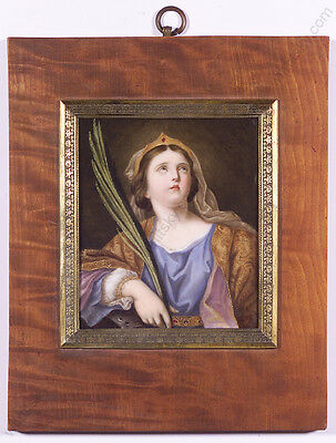 """St.Catherine"", after Guido Reni, Porcelain Painting, early 19th century"