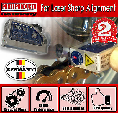 Laser Sharp Chain Alignment Tool -Made In Germany- Reduced Wear&Best Performance