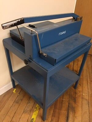 Industrial GUILLOTINE Dahle 545 Manual Stack Cutter With Base Table NEW BLADE