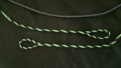 Custom Fastflight plus Recurve/flatbow bow string flemish twist green/black