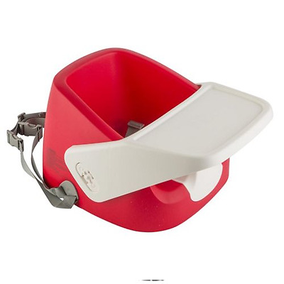 Feeding Baby Toddler Booster Seat with Tray Red