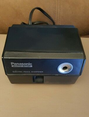 Panasonic KP-110 Black Auto Stop Electric Pencil Sharpener Japan