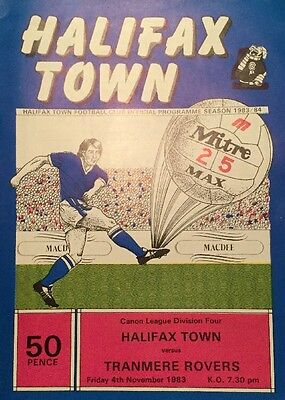 Halifax Town v Tranmere Rovers 1983-84