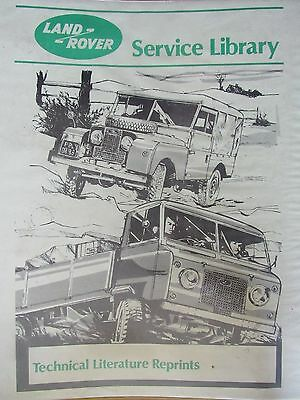 Spare Parts Catalogue for Land Rover Serie 1