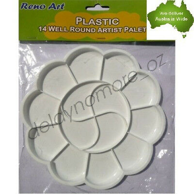 Well Round Artist Palette Painting Craft Art Paint Plastic Pallet mixing