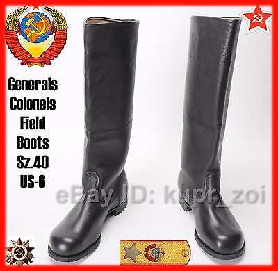 NEW Sz.40 Very RARE Calfskin Leather Army Officers Boots Germany reparation USSR