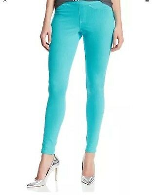 2bb2784713a HUE Original Denim Leggings SZ M Blue Curacao NWT  44