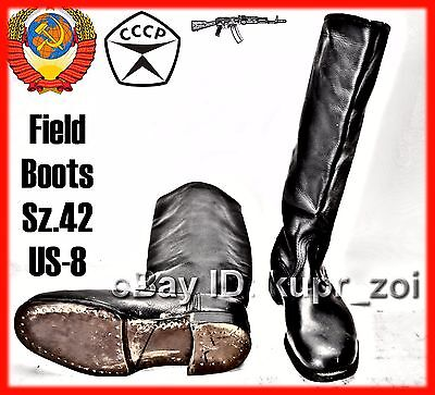 NEW Sz.42 midle Soviet Calfskin perfect Leather Army FIELD Boots NEW -2