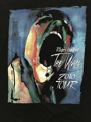 ROGER WATERS Pink Floyd mens XL The Wall Live 2010 Tour shirt x-large Hipster