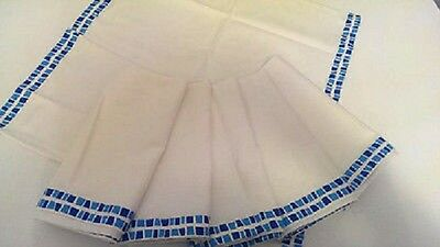 IKEA PRAKTARALIA - Set of 6 Napkins Dining Textile White Blue Cotton 18 x 18 ""