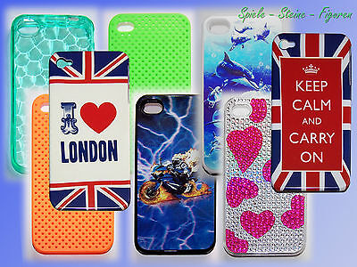 iPhone 4 4S Phone Cover Protective Case Cover Half Shell Bag for Smartphone