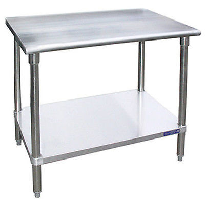Heavy Duty Stainless Steel Work Prep Table 30 x 18 - NSF