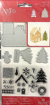 Art-C Clear Stamp And Die Set ~Merry Christmas Code 28459