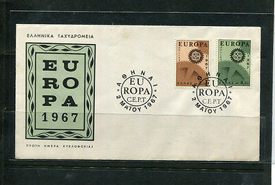 Greece 1967 Fdc Europa First Day Stamp Cover