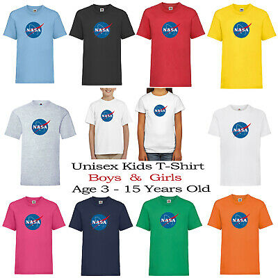 Nasa Logo Space Kids Boys Girls Unisex nine different colours  Top T-shirt 152