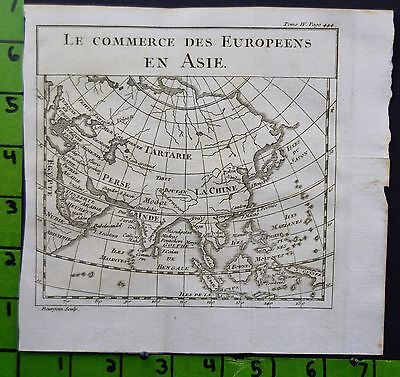 Antique Map Engraving of Asia Printed 1746