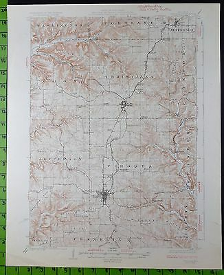 Viroqua Westby Wisconsin 1926 Antique USGS Topographic Map 16x20