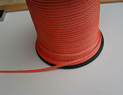 4mm X 10M Orange Dyneema® Fiber Synthetic Winch/ yacht rope tensile:1800kg - NEW