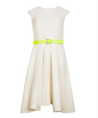 Ted Baker London NEW EMIEELE Full Skirt Skater Dress Cream Ivory Sz 0(US 2 a7b657dd2