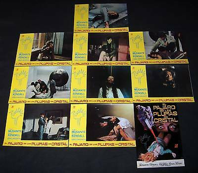 1970 Bird with Crystal Plumage ORIGINAL LOBBY CARD SET Dario Argento GIALLO