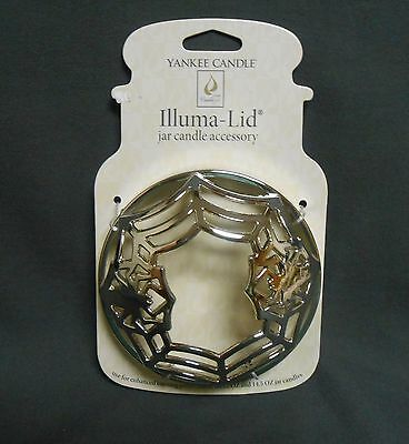 Yankee Candle Halloween Chrome Spider Web Silver Dome Illuma-Lid