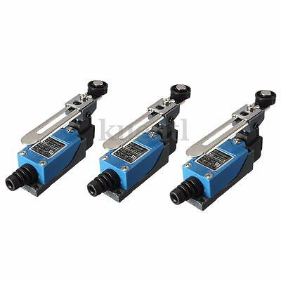 3pcs ME-8104 Momentary Actuator Action Rotary Roller Lever Arm Limit Switch Tool