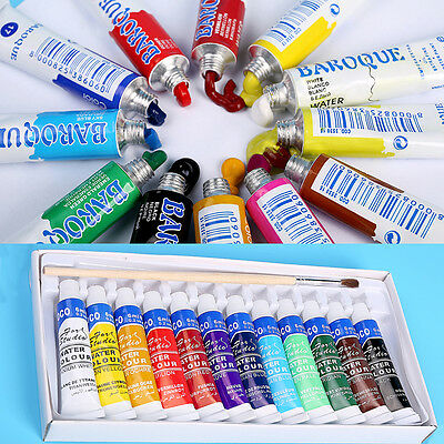 Professional 5ml Paint Tube Watercolor Paint Set 12 Colors Sets Drawing Painting