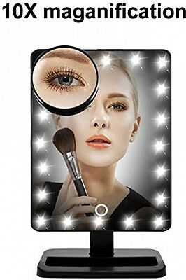 WanEway Next Generation Makeup Mirror 20 Bright LED Lights 12 Large Touch Screen