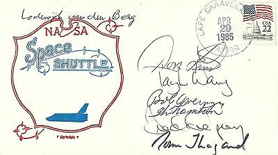 Space Shuttle Sts-51-B Fully Crew Signed Cover - Uacc Rd Astronaut Autograph